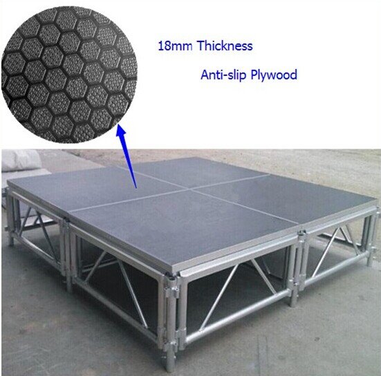 6082-T6 Anti-slip Waterproof Plywood Portable Stage For Concert