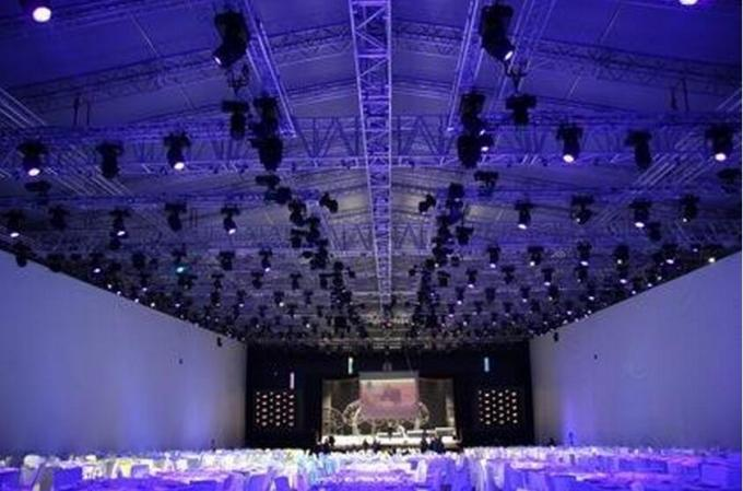 400*600MM Aluminum Light Stage Lighting Truss Systems For Meeting Room