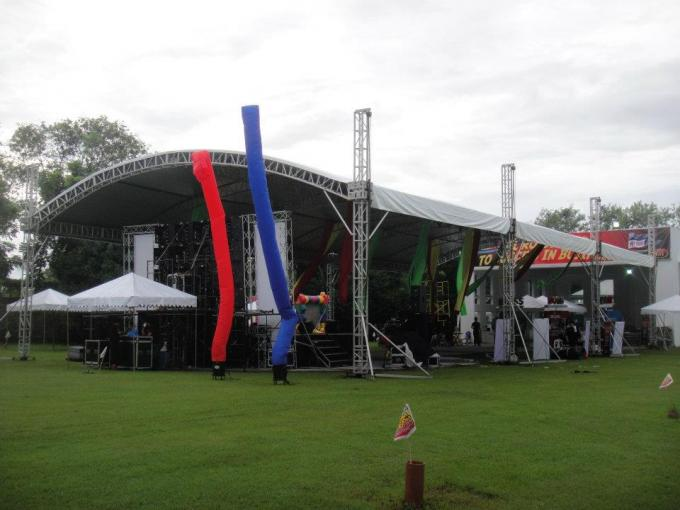 Heavy Duty Aluminum Stage Truss System With PVC Material Tent , stage lighting truss