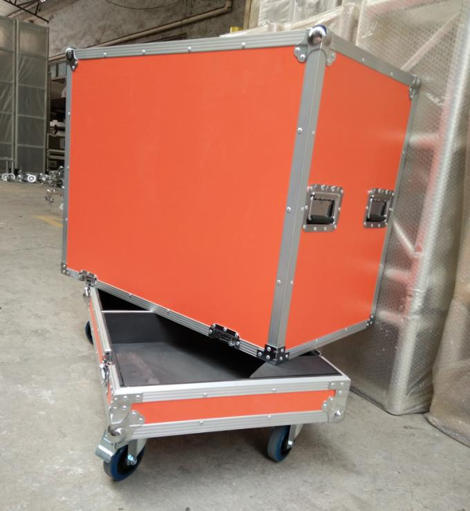 Orange Speaker Audio Road Aluminum Tool Cases with 9mm Thickness Fireproof Plywood Board