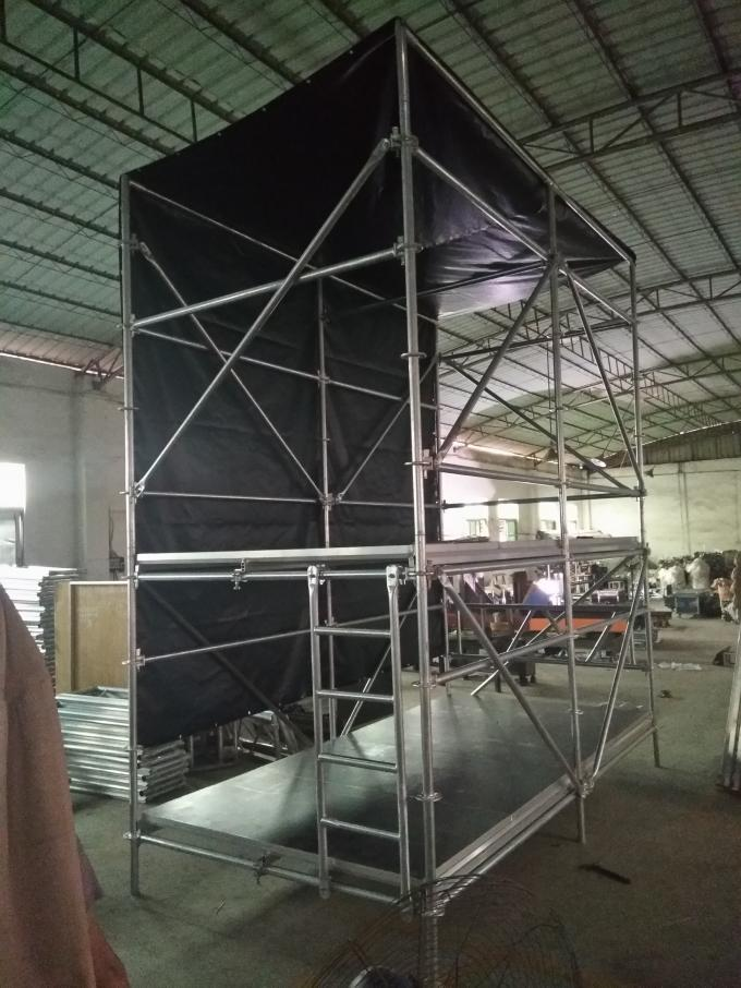 Custom Layer Truss and 	Movable Stage Platform Station for Stadium Lighting Tower Truss