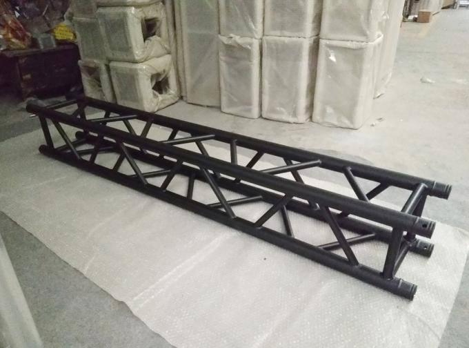 Indoor Stage Lighting Truss , 4 Sides Brace Tube 290 * 290mm Black Aluminum Spigot Truss