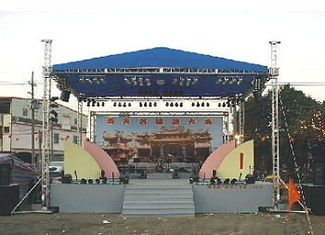Aluminum Space Stage Lighting Truss Structure 4 Pillar Truss Stand For Concert Event