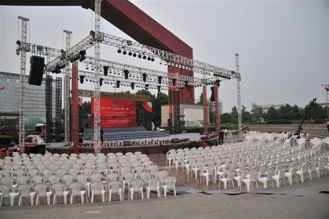 Free Design Spigot Aluminum Stage Truss For Corporate Events Concerts