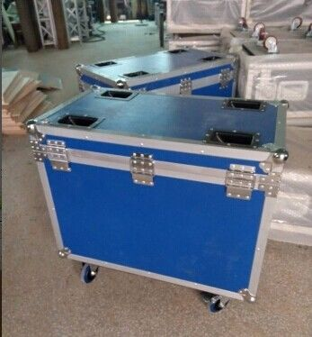 Blue 9mm Plywood Rack Flight Case With Wheels For Light