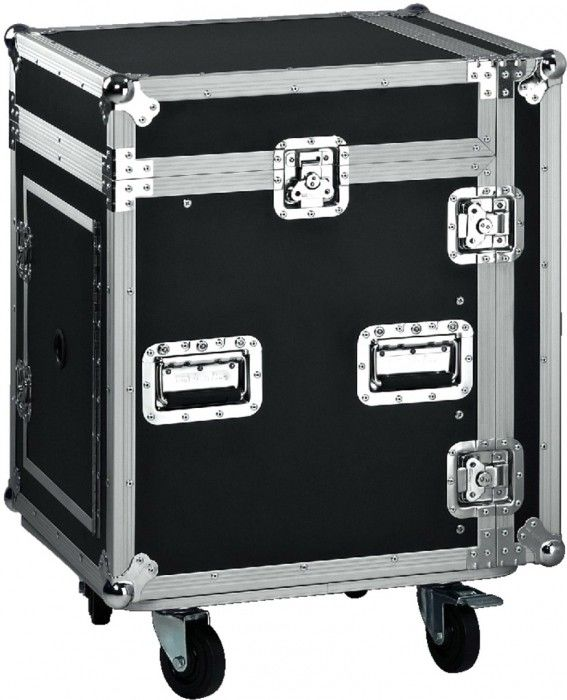 Black Wooden Standard Rack Flight Case / 16U Flight Case / Storage Case