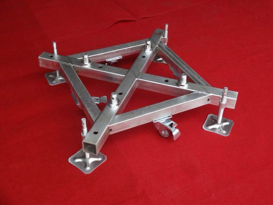 500mm x 500mm Iron Base Caster Truss Coupler For Aluminum Roof Truss