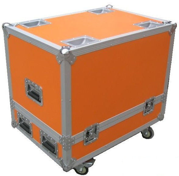 Orange 9mm Wood  Board  Rack Flight Case  For Sound Speaker  Equipment