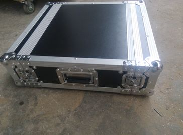 China Black Color 2 U Rack case , 2 U Flight Case With 9 MM Thickness Plywood Road Case factory
