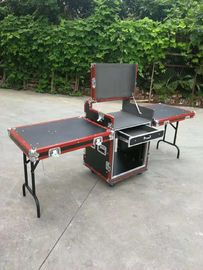High Quality Red Aluminum Bar 12U Standard Road Rack Flight Case 35 * 35MM With 2 Stand And Mixter