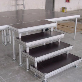 High Stability Stage Stair Made By Aluminum Tube And 18mm Plywood