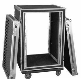 China Different kind of  colors  Standard 10U Plywood  Rack Flight Case With Strong Wheels For Stage Equipment factory