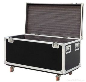 Black Plastic 6u Flight Cases For Speaker , Metal Tool Case
