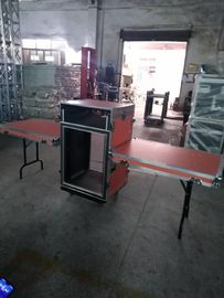China 18 U Heavy Duty Aluminum Rack Flight Case / Custom Shockproof Mount Amplifier Rack Case factory