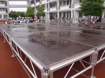Mobile Event Round Portable Stage Platforms For Lighting Truss Stage Adjustable Height Legs
