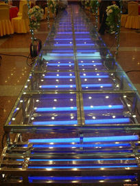 China Acrylic Wedding Stage / Acrylic Platform Stage / Swimming Pool Glass Stage factory