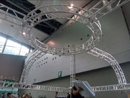 Aluminum Screw Circular Lighting Truss For Exhibition On Truss Top