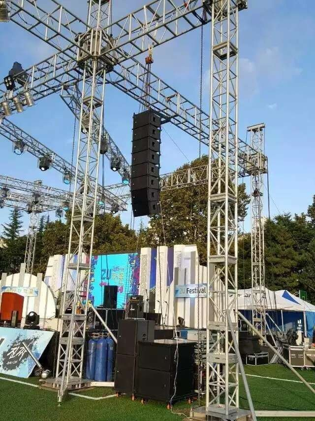 300x300mm Bolt / Strong Capacity Aluminum Stage Box Truss And Display Truss