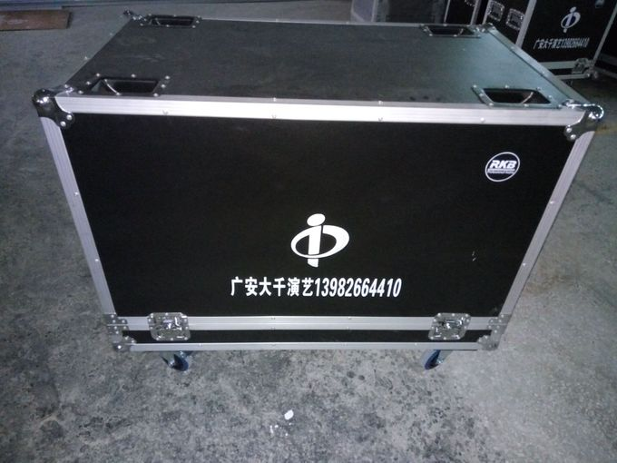 Black Flight Case Aluminum Tool Cases Easy To Moving Customized Size