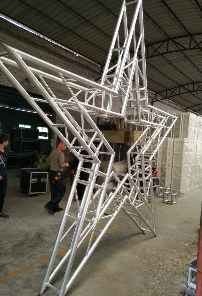 Black  Color 50*3mm Tube 290*290MM /300*300MM   Outside  Aluminum Stage Truss System 12m Length For Music Festival