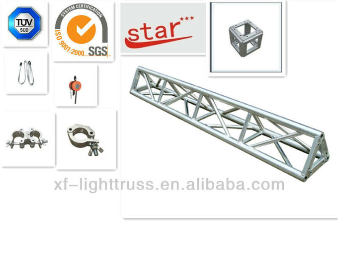 300*300 Triangle Shape Silver Aluminum Spigot Triangle Truss With Different Length For Ourdoor Performance