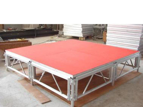 Outdoor Wooden And Aluminum Assembling Portable Stage Easy Fast To Assemble