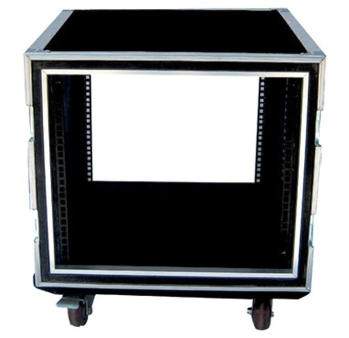 12U Rack Flight Case / 9mm Thickness Plywood Black Amp Flight Case